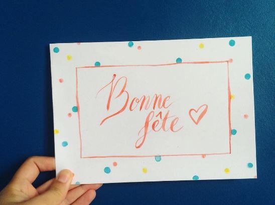 Calligraphique - Bonne fête