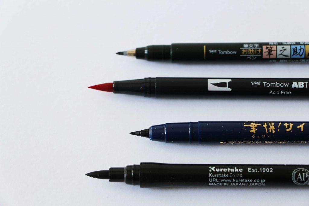 calligraphique - brushpen