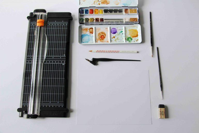 Calligraphique - Mon herbier - le matériel