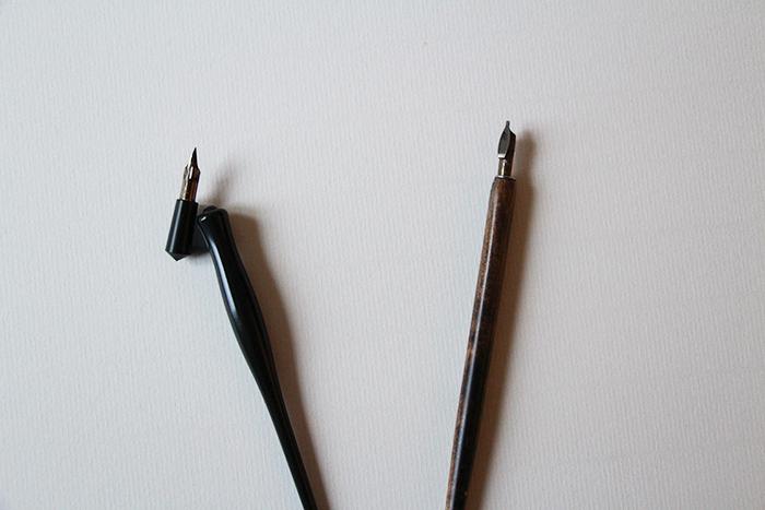 Débuter la calligraphie - porte plume