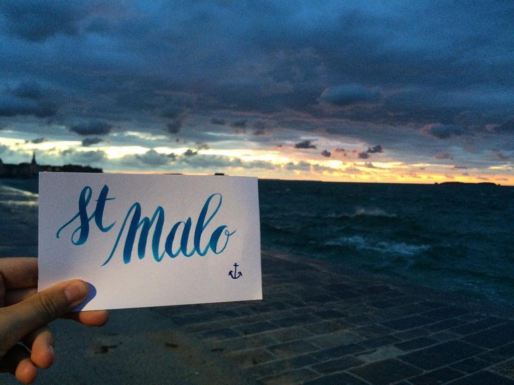 Calligrascape Saint Malo- calligraphique