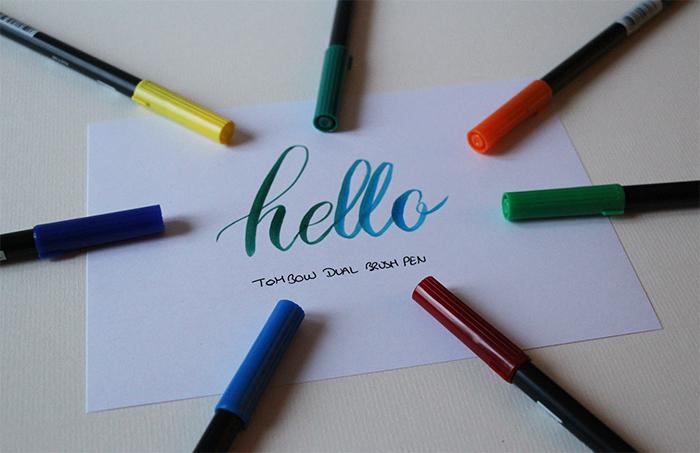 Débuter la calligraphie - feutres tombow