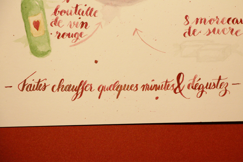 Recette vin chaud - calligraphique