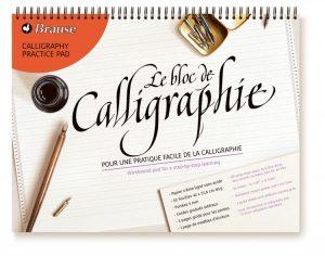 Bloc de calligraphie d'apprentissage