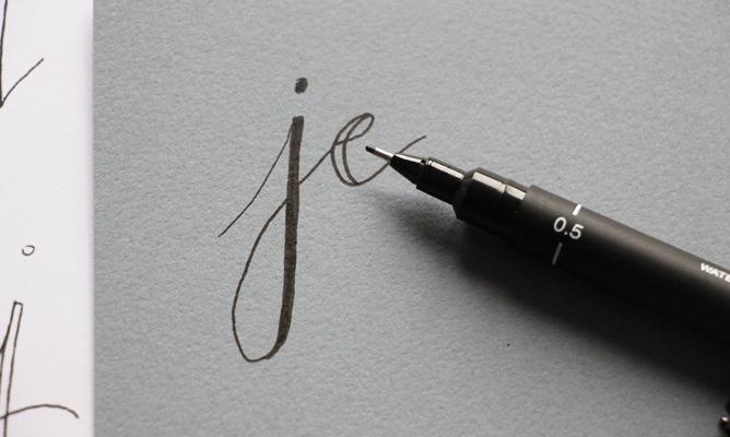Créer une fausse calligraphie - Etape 3 - Calligraphique