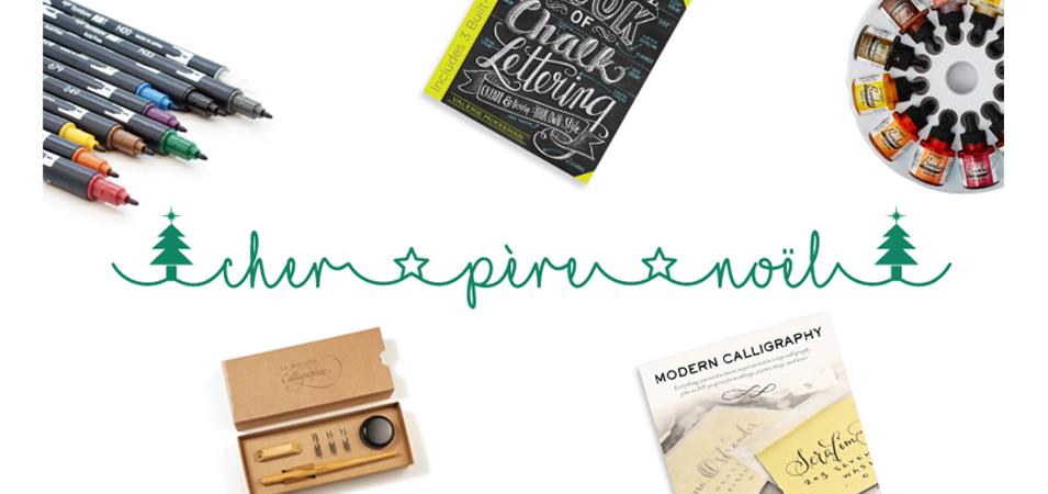 une-liste-noel calligraphie brush lettering