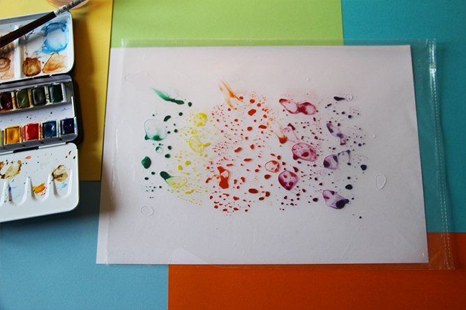 Poster licorne - calligraphique