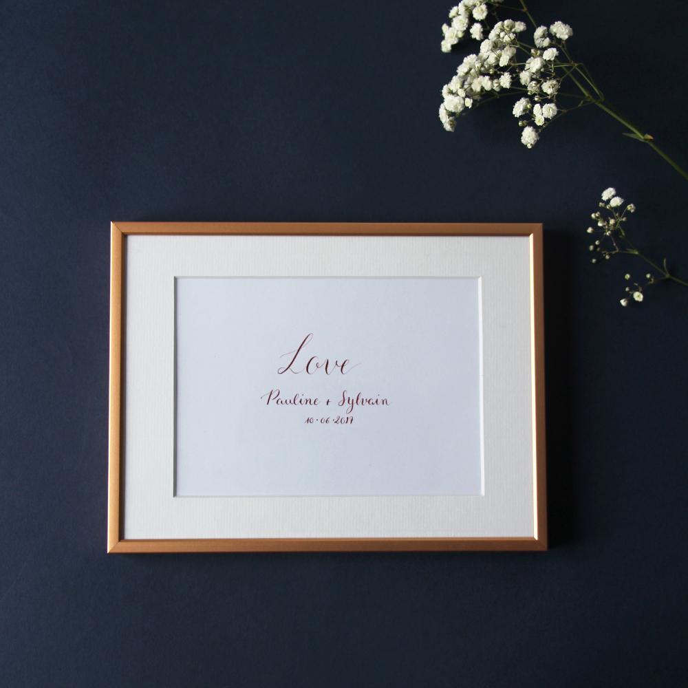 Calligraphique sur etsy.fr | Calligraphie personnalisée cadeau mariage