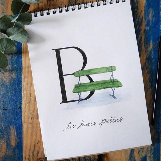 abecedaire-parisien-B - Calligraphique