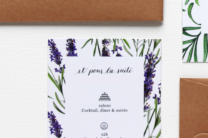 Papeterie mariage - calligraphique