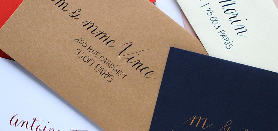 mariage personnalisée calligraphie - calligraphie