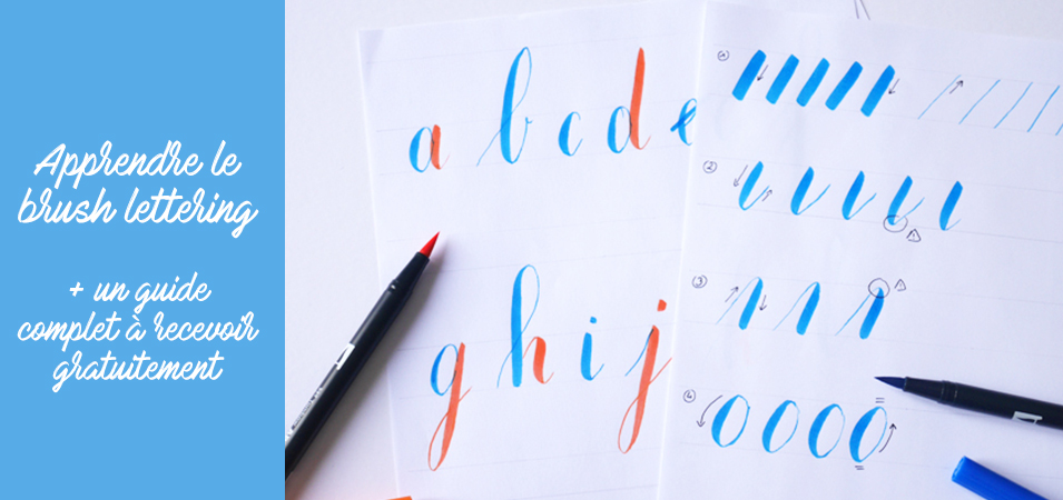 guide brushlettering - calligraphique