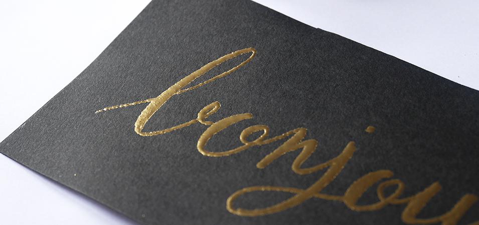 Embossing calligraphie lettering - calligraphique