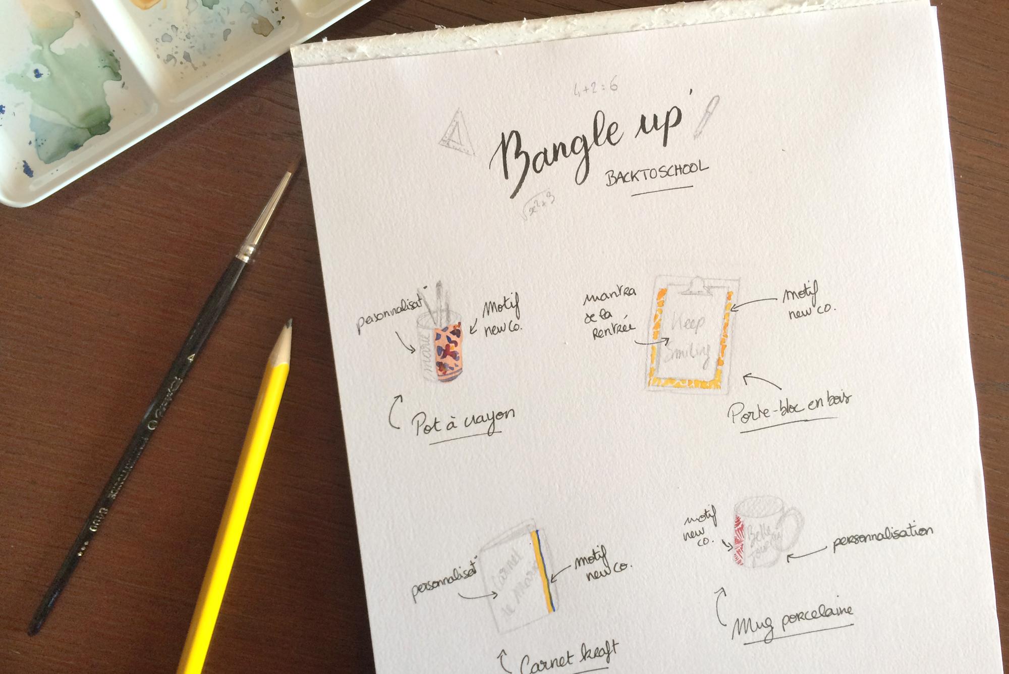 Personnalisation calligraphie Bangle Up – Calligraphique