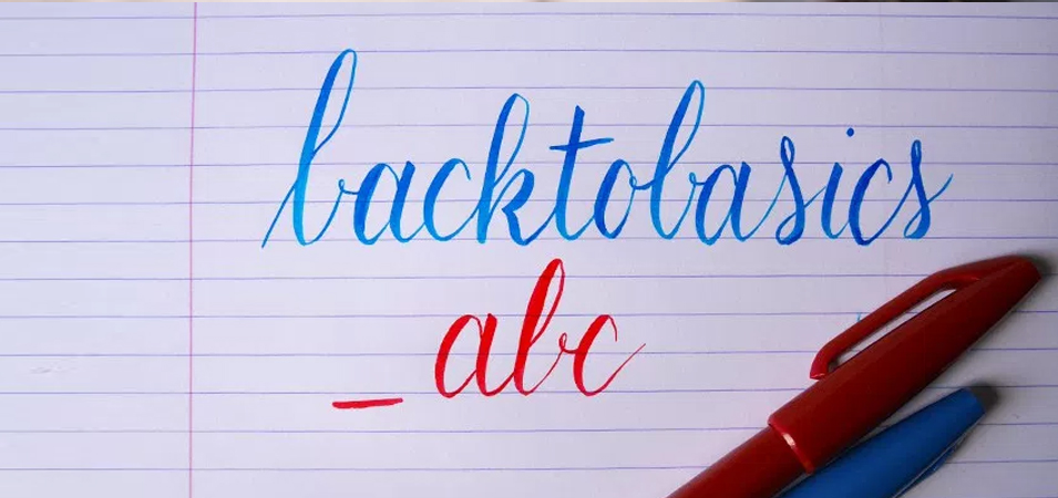 back to basic calligraphie brush lettering