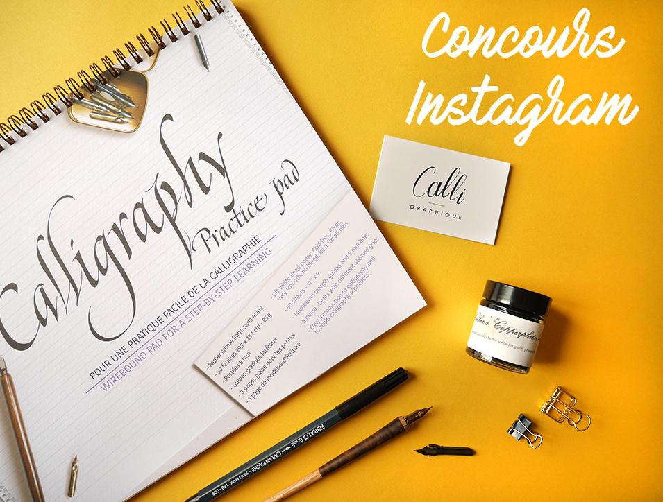 concours-instagram calligraphie brush lettering