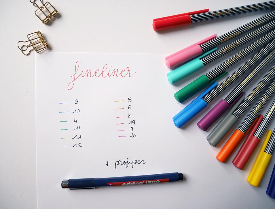 test colour Happy Box Edding - calligraphique