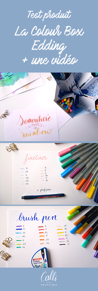 text colour Happy Box Edding - calligraphique