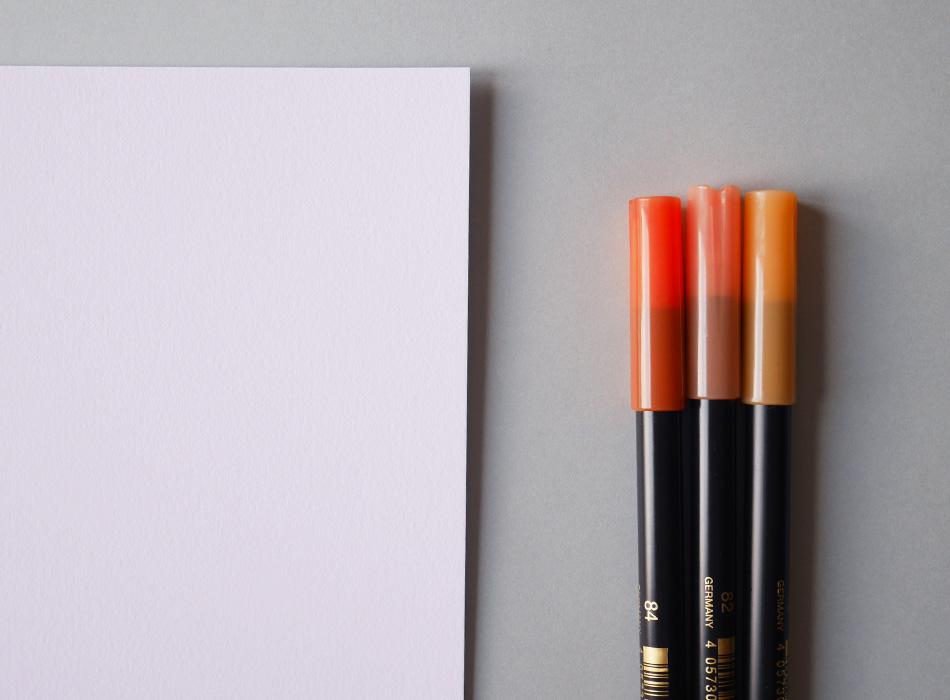 Créer un effet ruban en brush lettering - calligraphique