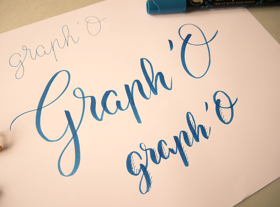 test brush pen - brush lettering - calligraphique