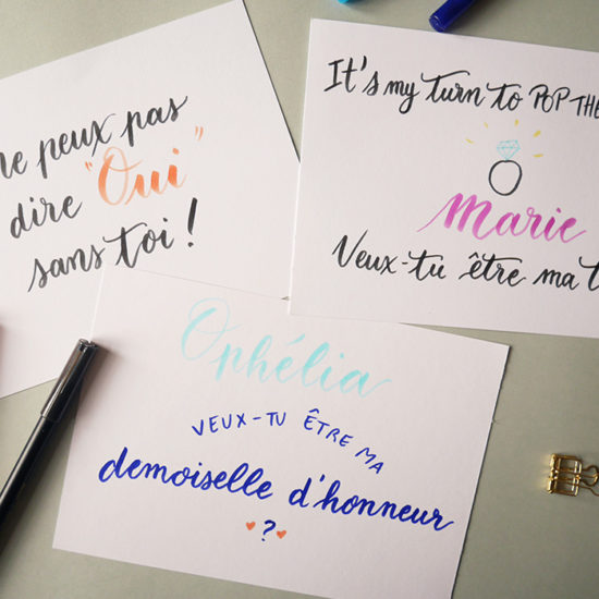 atelier plume pop the question - Calligraphique