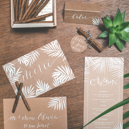Shooting inspiration Cuba mariage calligraphie