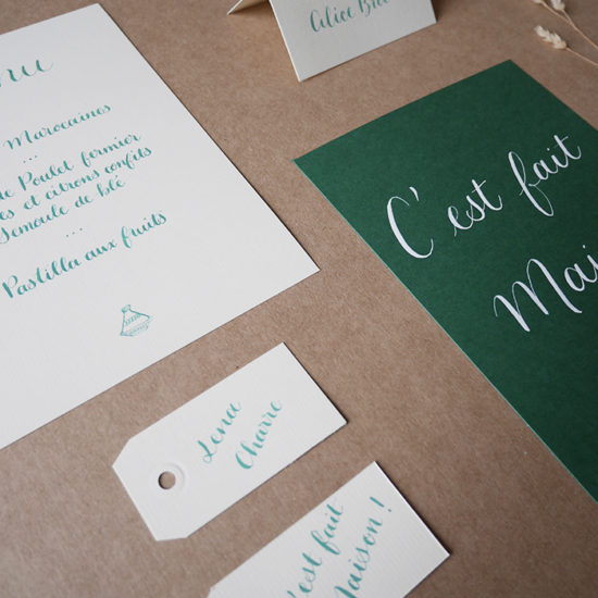 Papeterie mariage calligraphie