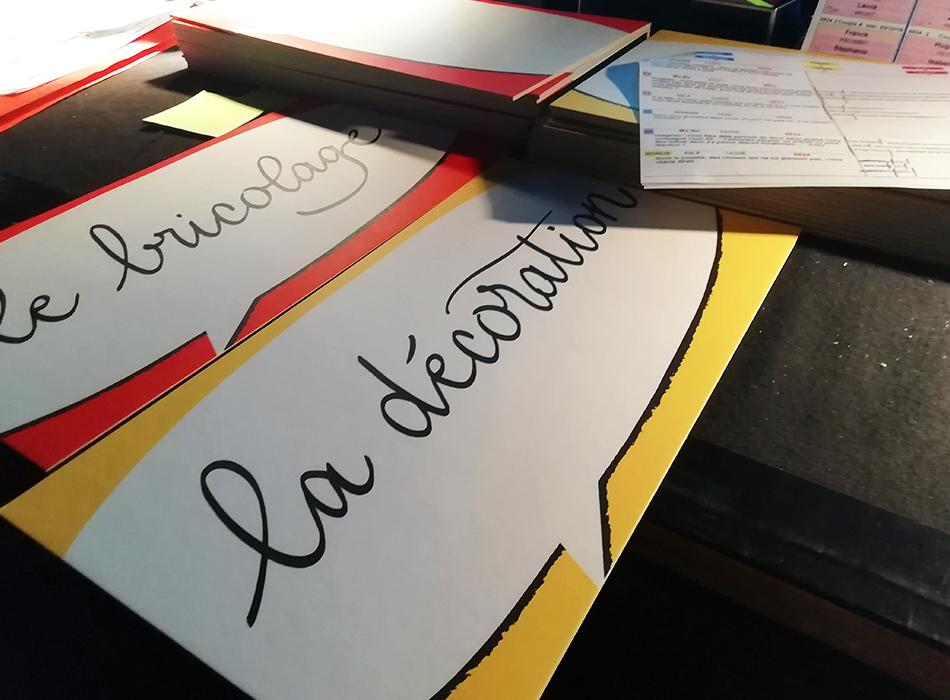 Calligraphie panneaux Les Z'amours