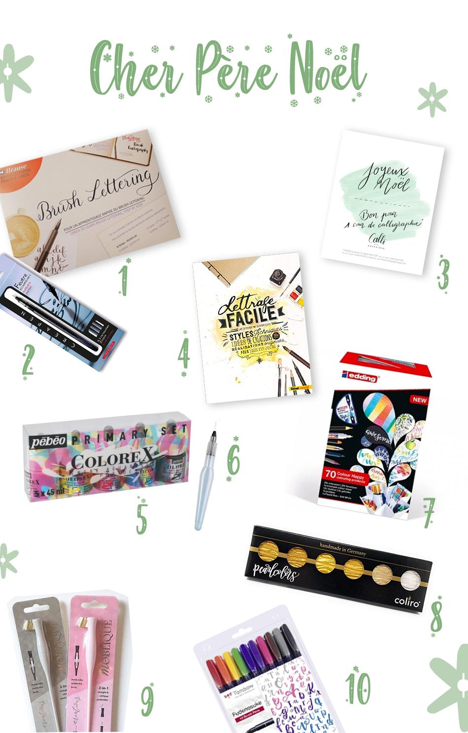 cadeau calligraphie et lettering Noël