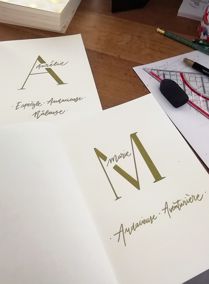 animation calligraphie bijoux LÕU.YETU - calligraphique