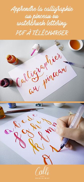 calligraphie au pinceau waterbrush lettering - calligraphique