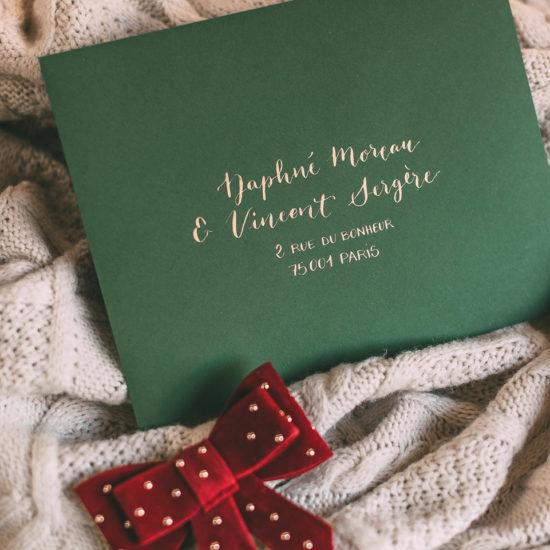 enveloppe mariage Daphné mode in the city Calligraphique