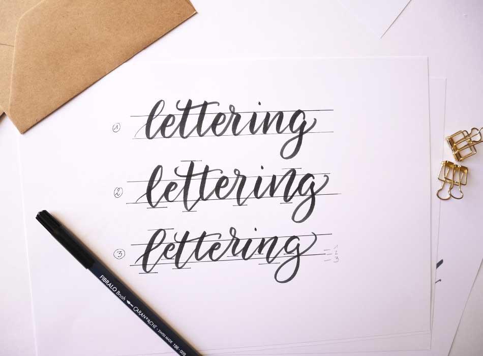 apprendre le bounce lettering - calligraphie - calligraphique