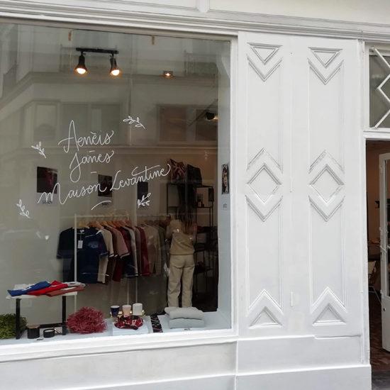 Vitrine pop up store Maison Levantine - Calligraphique