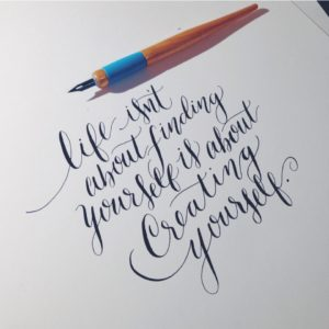 Calligraphique - Lettering daily