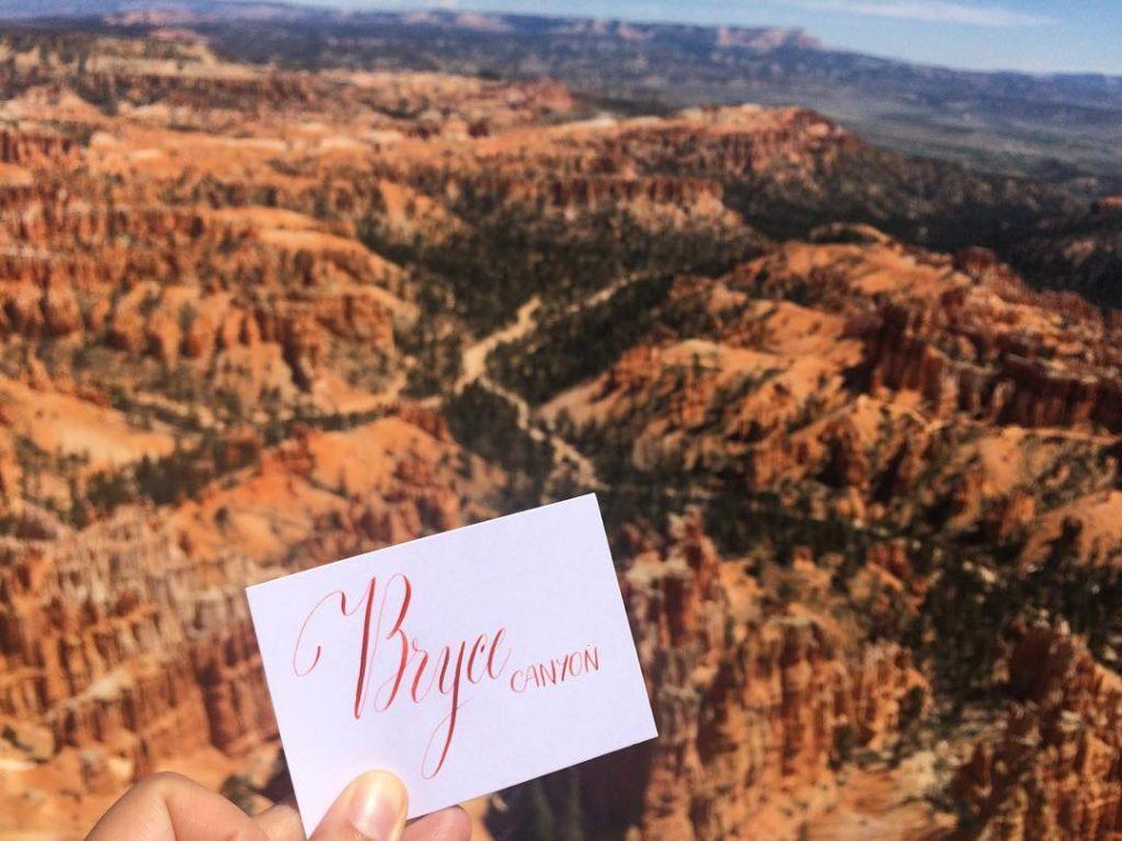 Calligrascape Bryce Canyon - Calligraphique