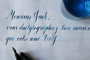 Pangramme - Calligraphique