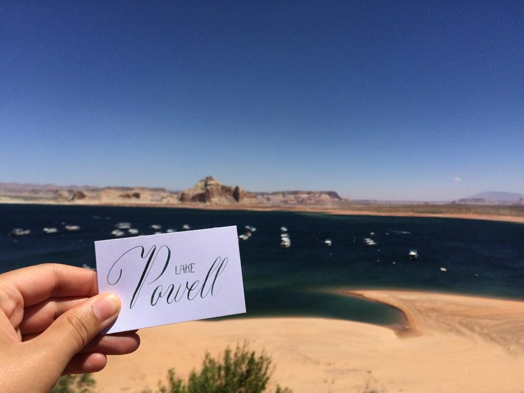 Calligrascape Lake Powell - calligraphique