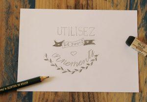 Calligraphique Lettering - Utilisez de jolis ornements