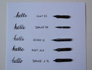 Débuter la calligraphie - plumes
