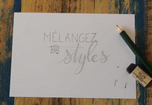 Calligraphique Lettering - Mélangez les styles