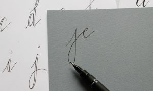 Créer une fausse calligraphie - Etape1 - Calligraphique