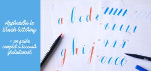 guide brushlettering - calligraphique