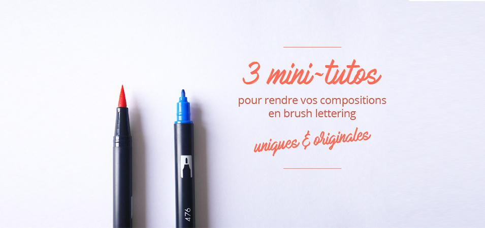 Tuto brush lettering . calligraphique