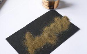 Test brush embossing - embossing powder