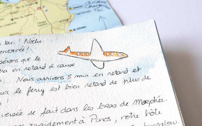 Carnet de voyage illustré - calligraphique