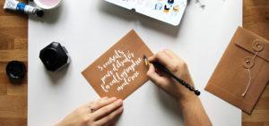 débuter la calligraphie moderne - calligraphique