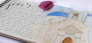 carnet de voyage illustrée - calligraphique