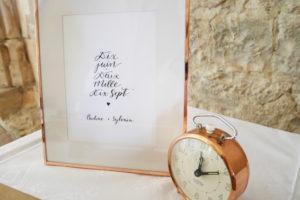 Calligraphie mariage - Calligraphique