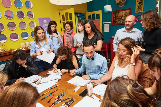 Atelier découverte brush lettering Carrefour